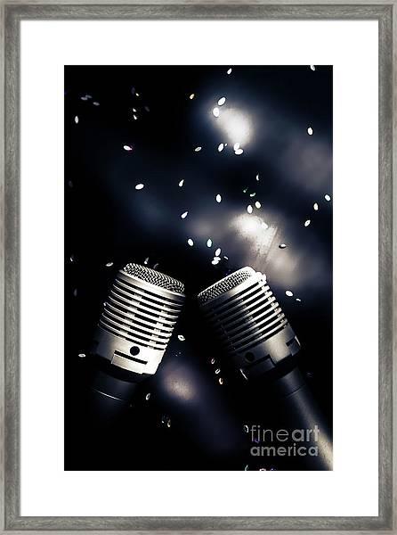 Microphone Club Framed Print