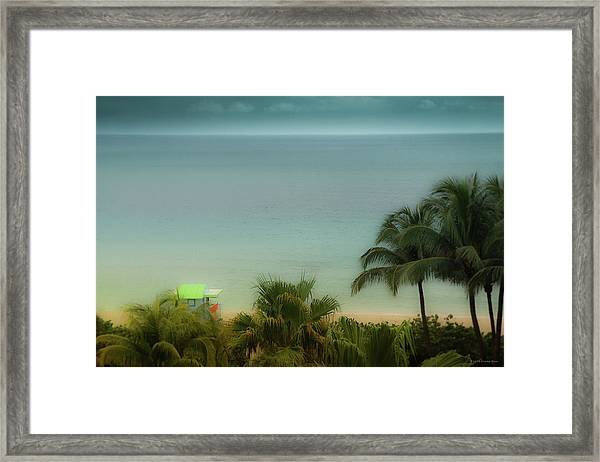 Mid-beach Miami-1 Framed Print