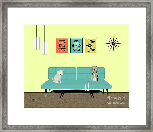 Mid Century Modern Dogs 2 Framed Print