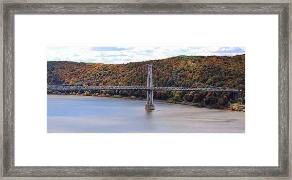 Mid Hudson Bridge In Autumn Framed Print