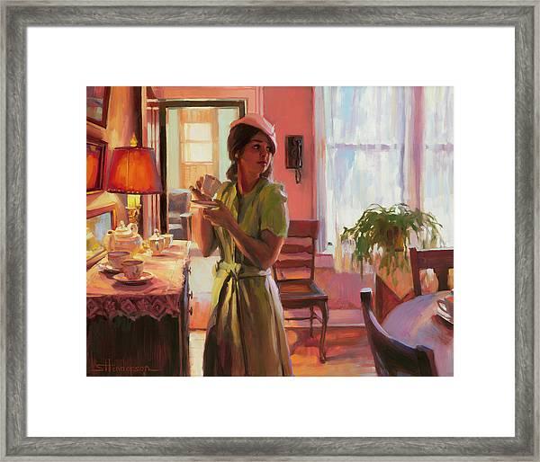 Midday Tea Framed Print