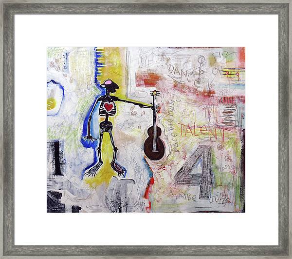 Middle-aged Musician Framed Print