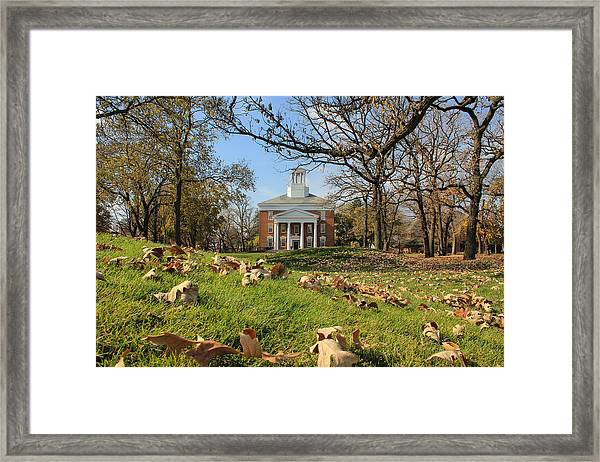Middle College On An Autumn Day Framed Print