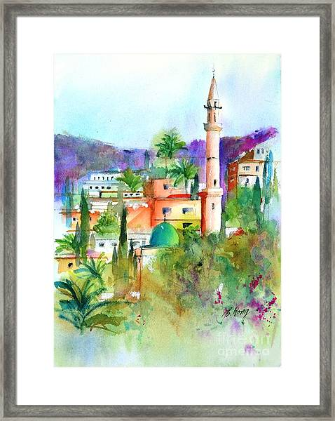 Middle East Skyline Framed Print