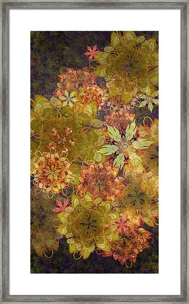 Midnight Blossom Bouquet Framed Print