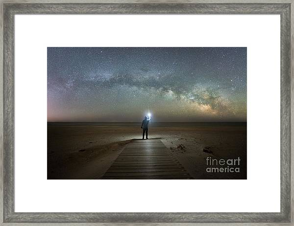 Midnight Explorer At Assateague Island Framed Print