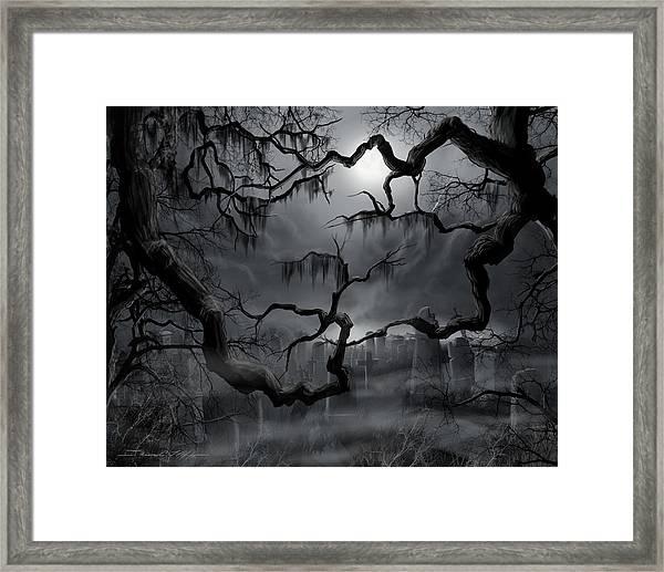 Midnight In The Graveyard II Framed Print