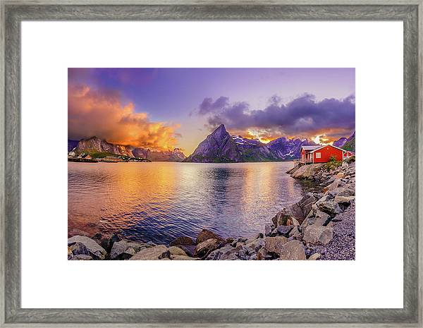 Midnight Orange Framed Print