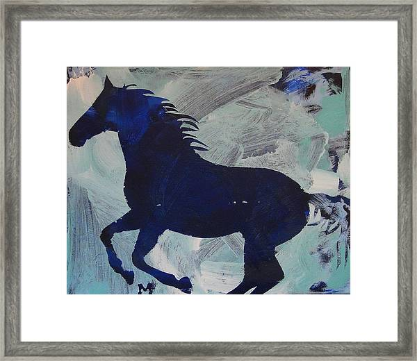 Framed Print featuring the painting Midnight by Candace Shrope
