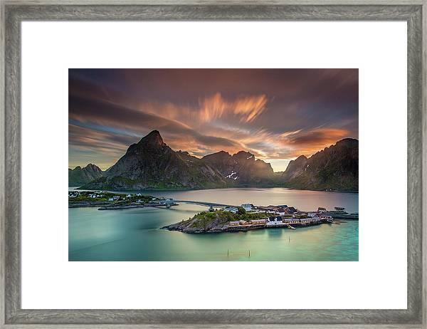 Midnight Sun Galore Framed Print