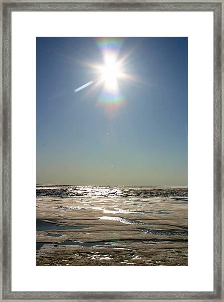 Midnight Sun Over The Arctic Framed Print