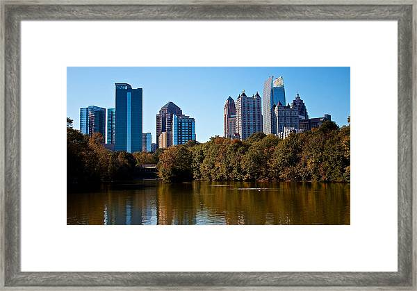 Midtown In The Fall Framed Print