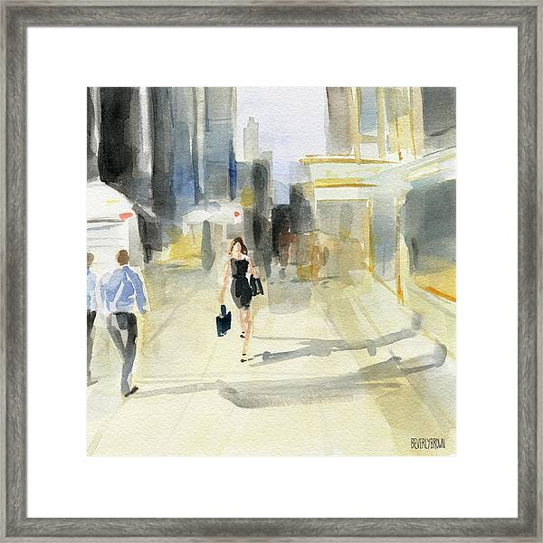 Midtown Light And Shadows Framed Print by Beverly Brown