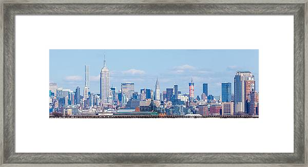 Midtown Manhattan Skyline Framed Print by Erin Cadigan