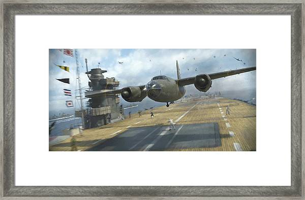 Midway Marauder - Painterly Framed Print by Robert Perry