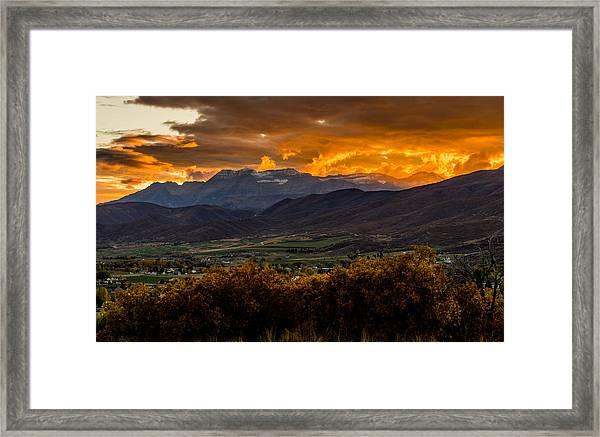 Midway Utah Sunset Framed Print