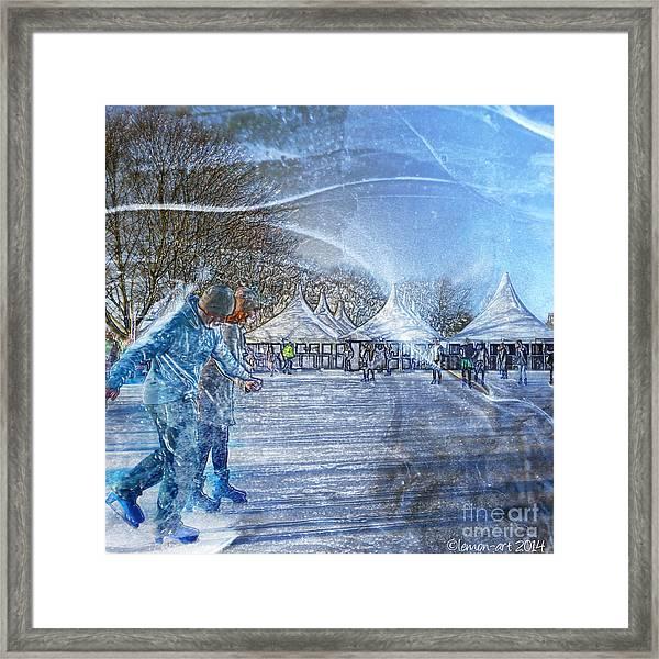 Midwinter Blues Framed Print
