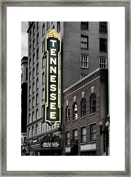 Mighty Tennessee Framed Print