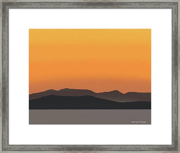 Mykonos Sunset Framed Print