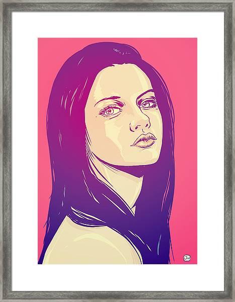 Mila Kunis Framed Print