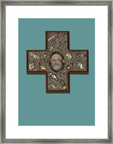 Milagro Cross Framed Print