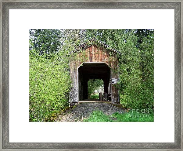 Milbrandt Bridge Portal Framed Print