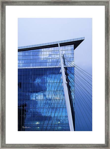 Milennium Bridge Spire Framed Print