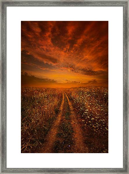 Miles And Miles Away Framed Print