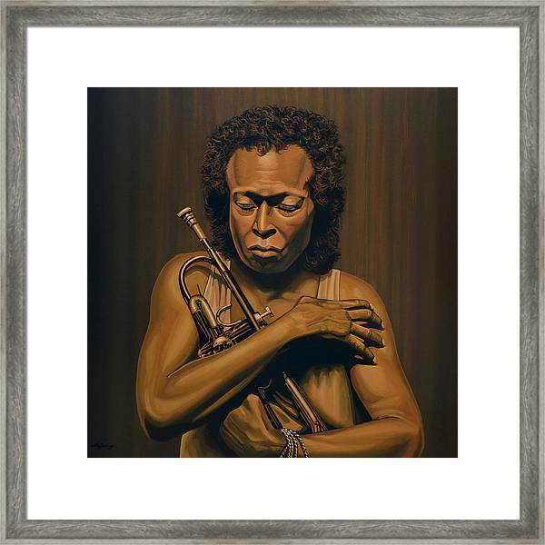 Miles Davis Painting Framed Print