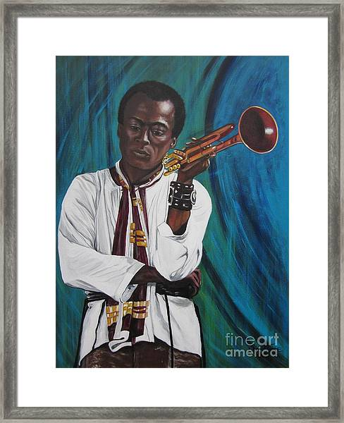 Blaa Kattproduksjoner     Miles-in A Really Cool White Shirt Framed Print