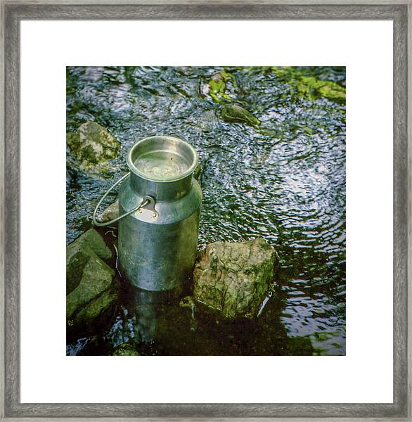 Milk Can - Wales Framed Print