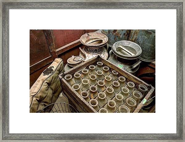 Milk Truck Interior 801 Framed Print