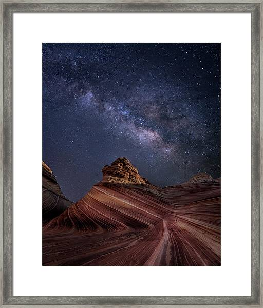 Milky Way And The Wave Framed Print