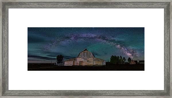 Milky Way Arch Over Moulton Barn Framed Print