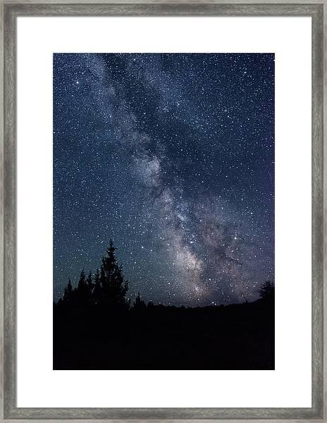 Milky Way At Eastern Oregon Wilderness Framed Print