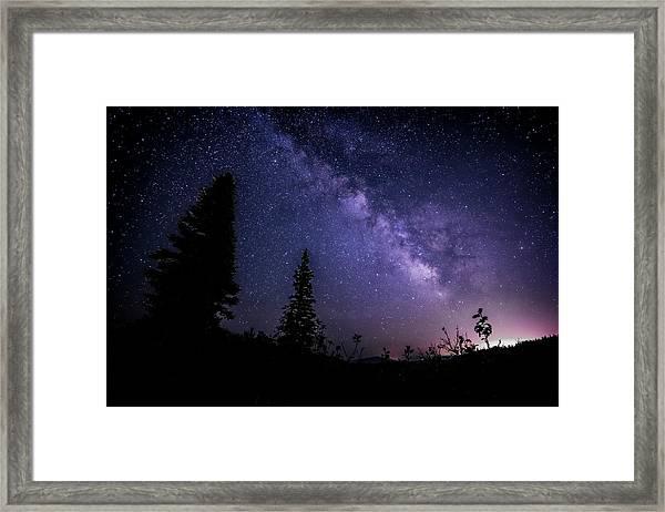 Milky Way At Powder Mountain Framed Print