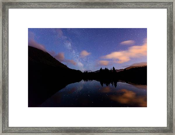 Milky Way At Snoqualmie Pass Framed Print