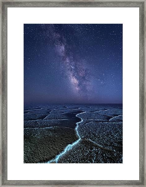 Milky Way At The Salt Flats Framed Print