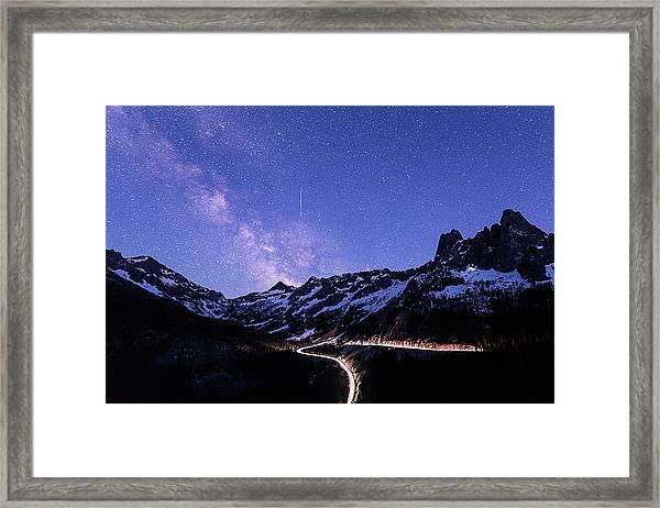 Milky Way At Washington Pass Framed Print