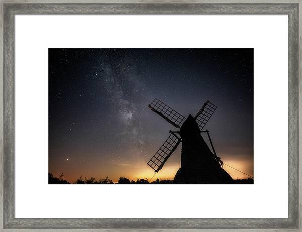 Milky Way At Wicken Framed Print