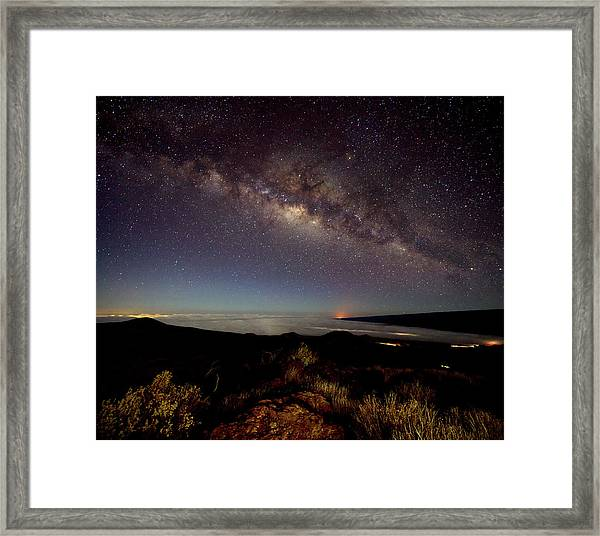 Milky Way From Mauna Kea Framed Print