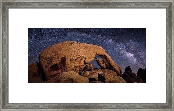 Milky Way Over Arch Rock Framed Print