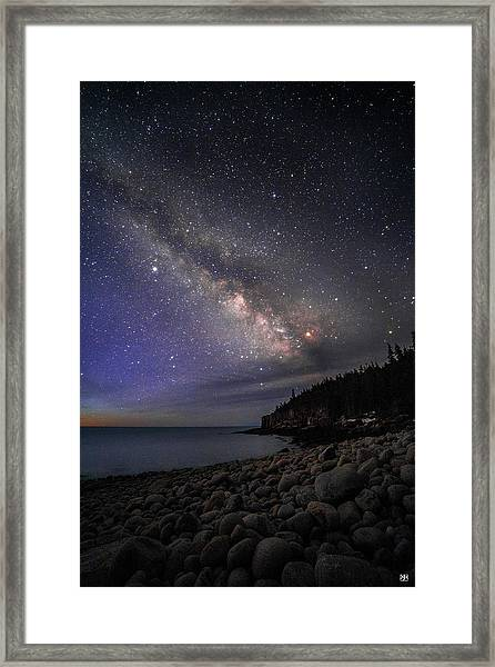 Milky Way Over Boulder Beach Framed Print