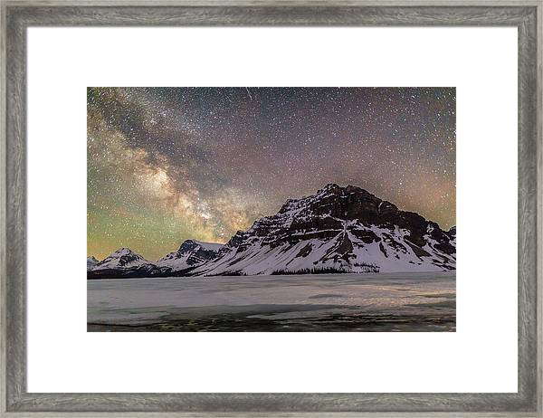 Milky Way Over Crowfoot Mountain Framed Print