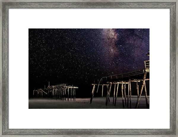 Milky Way Over Frisco Framed Print