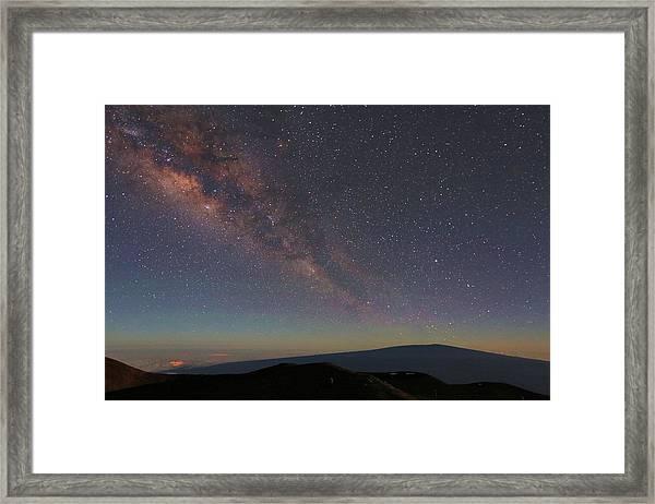 Milky Way Over Mauna Loa Framed Print
