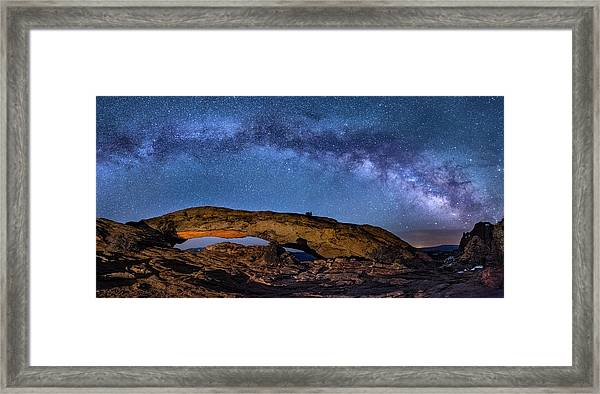 Milky Way Over Mesa Arch Framed Print