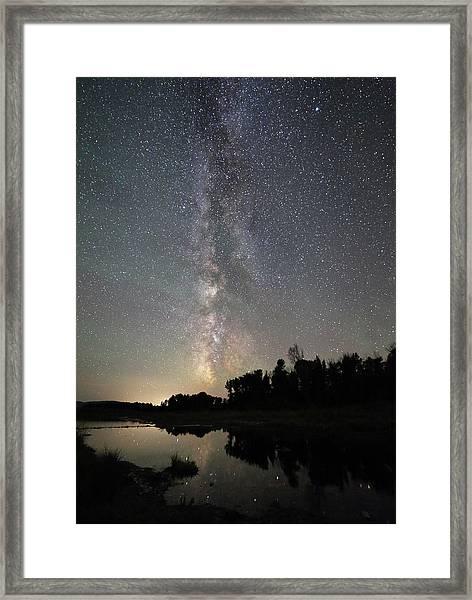Milky Way Over Schwabacher's Landing Framed Print by Jean Clark