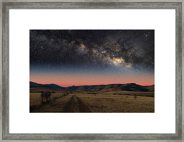 Milky Way Over Texas Framed Print