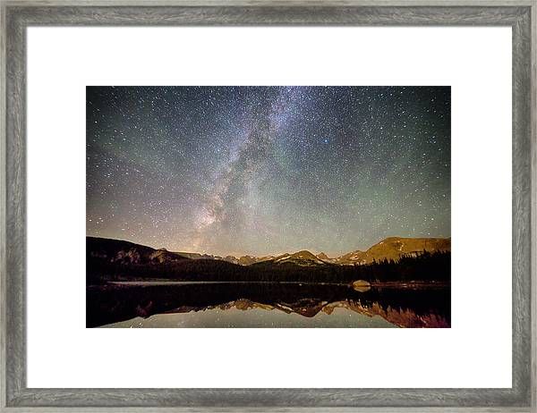 Milky Way Over The Colorado Indian Peaks Framed Print